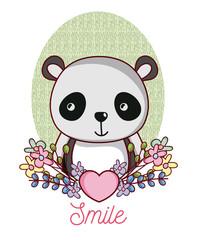 Lovely panda cartoon
