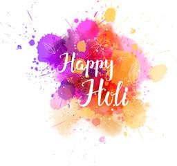 Colorful Holi festival watercolor splash background