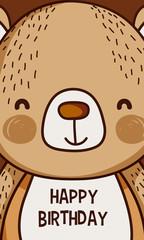 Happy birthday to you bear cartoon