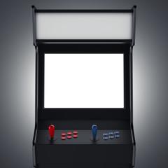 Black gaming machine. 3d rendering