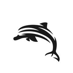 Dolphin vector logo illustration on white background