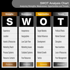 SWOT Strengths Weaknesses Opportunities and Threats Business Analysis Chart
