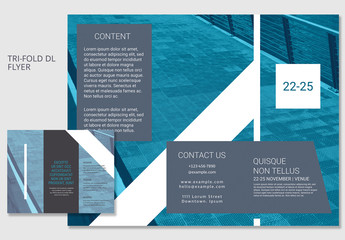 Blue DL Trifold Brochure Layout 1