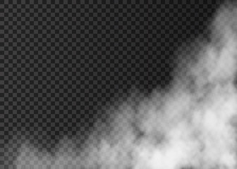 White fog  on transparent background.