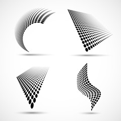 Wall Mural - Set of Abstract Halftone Design Elements. Vector illustration