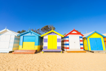 Brighton Beach Huts in Melbourne, Australia