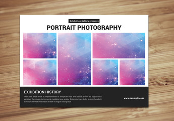Minimalist Photography Exhibition Flyer Layout