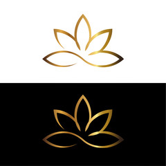 gold lotus logotype