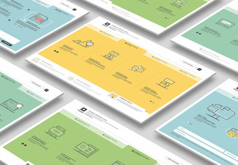 Illustrated Web Layout with Icons 6