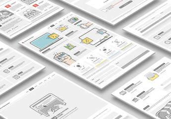 Illustrated Web Layout with Icons 10