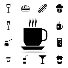 Coffee cup icon. Detailed set of food and drink icons. Premium quality graphic design. One of the collection icons for websites, web design, mobile app