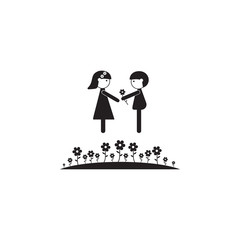 couple in love on a lawn icon. Illustration of family values icon. Premium quality graphic design. Signs and symbols icon for websites, web design, mobile app