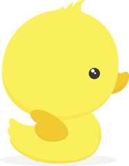 cute baby duck illustration isolated on white background, design for baby and children, can be used for invitations, nursery art decor, newborn baby decoration and baby shower