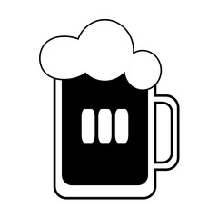 Vector beer with foam in a mug. Every piece isolated.