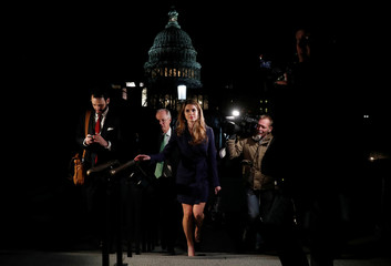 White House Communications Director Hope Hicks leaves the U.S. Capitol in Washington