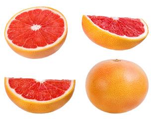 Fototapete - grapefruit isolated on white background