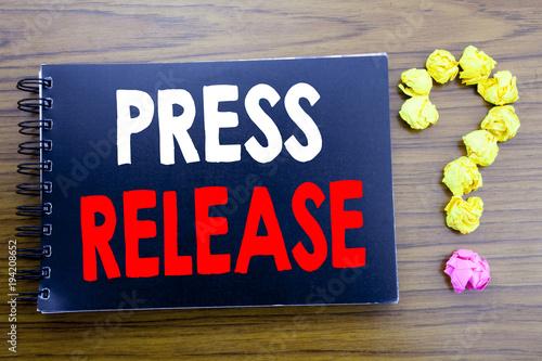 Handwritten text showing press release business concept writing for handwritten text showing press release business concept writing for statement announcement message written on notepad thecheapjerseys Gallery