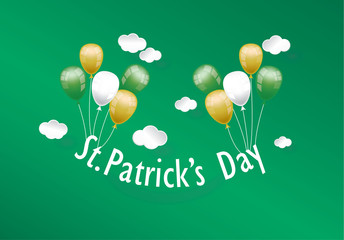 St. Patrick's Day card  vector illustration on background