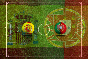 Football Cup competition between the national Span and national Portuguese.
