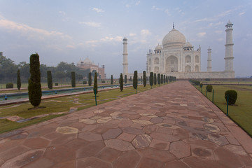 Paved road leading to the Taj Mahal