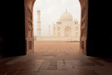 Door opening towards Taj Mahal