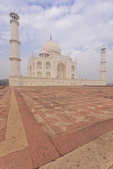 Taj Mahal portrait photo