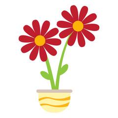Cute flower on a pot