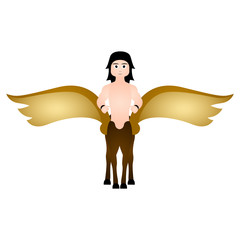 Winged centaur. Fantasy creature