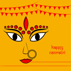 Illustration of Indian Goddess Durga for the occasion of Hindu festival Navratri