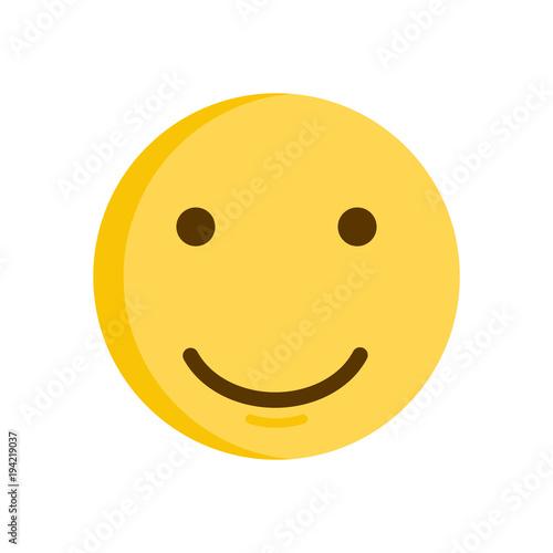 Smiley face  Vector smiling emoticon emoji icon
