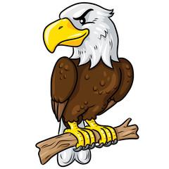 Eagle Cute Cartoon Illustration of cute cartoon eagle.