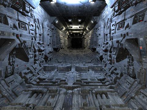 Sci Fi corridor with Blocky Tech Panels