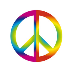peace symbol kunterbunt