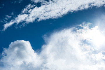 Blue sky with cloud for natural background