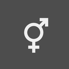 Gender flat vector icon