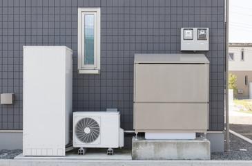 オール電化住宅 太陽光発電 蓄電システムを設置した住宅 イメージ