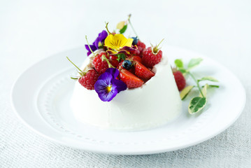 Canvas Prints Dessert dessert with berries
