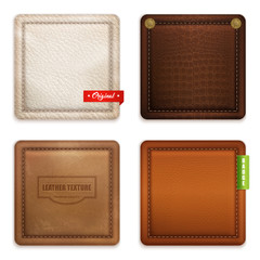 Realistic Genuine Leather Texture  Set