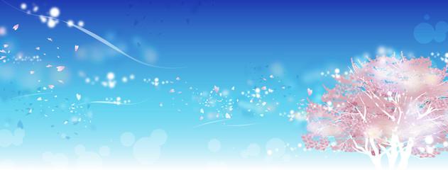 桜の木 青空 キラキラ