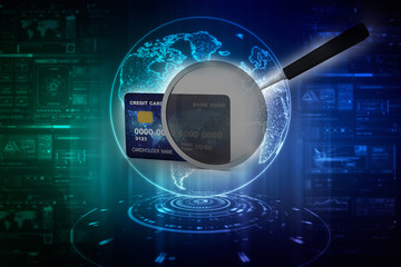 3d rendering  credit or debit card on search