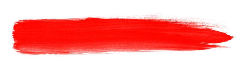 Pinselstreifen mit roter Farbe Fototapete