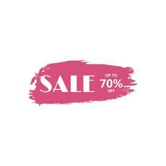 Big sale discount business vector template. Paint brush spots, highlighter lines or felt-tip pen marker horizontal blobs.