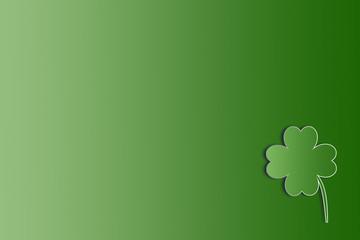 St. Patricks Day background with shamrock