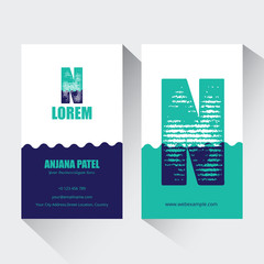 Letter N logo corporate business card