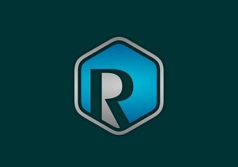 R letter logo elegant design.