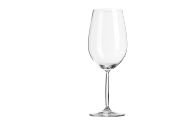 wine glass isolated on white with clipping path