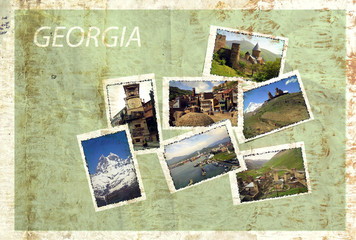 photo collage Travel Georgia