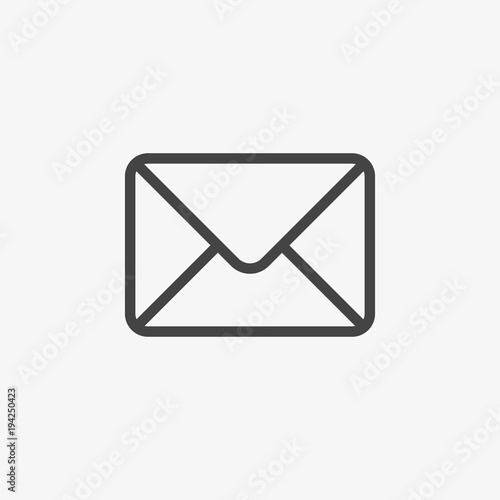 mail vector icon email post letter communication newsletter