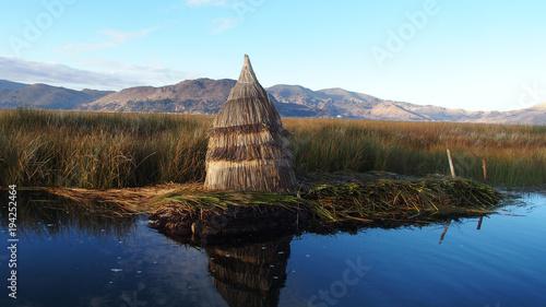 Floating Hut On Titicaca Lake Peru Stock Photo And Royalty Free