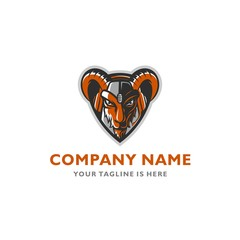 STRONG GOAT GAMING MOUSE SYMBOL VECTOR ICON LOGO TEMPLATE